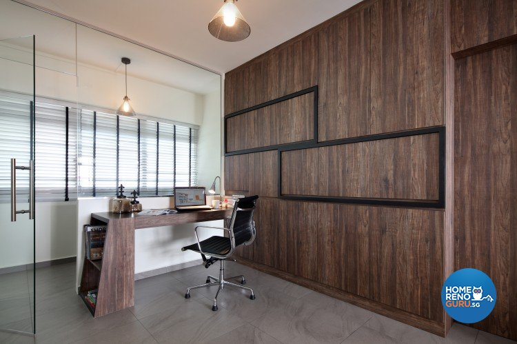 Scandinavian Design - Study Room - HDB 5 Room - Design by Distinctidentity Pte Ltd