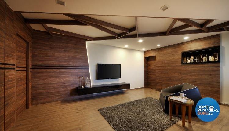 Minimalist Design - Living Room - HDB 3 Room - Design by Distinctidentity Pte Ltd