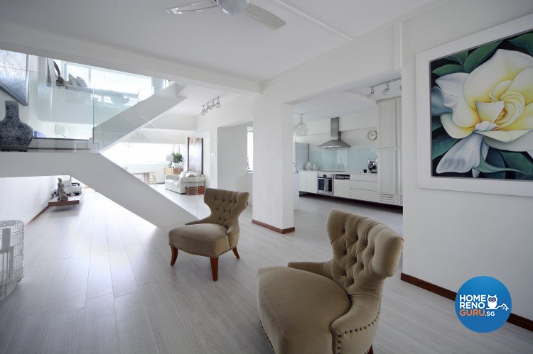 Modern Design - Living Room - HDB Executive Apartment - Design by Distinctidentity Pte Ltd