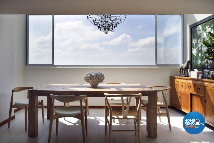 Minimalist Design - Dining Room - HDB Executive Apartment - Design by Distinctidentity Pte Ltd