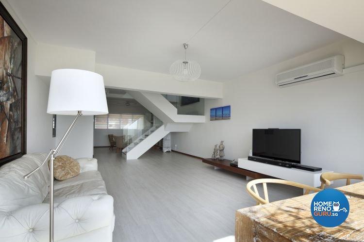 Minimalist Design - Living Room - HDB Executive Apartment - Design by Distinctidentity Pte Ltd