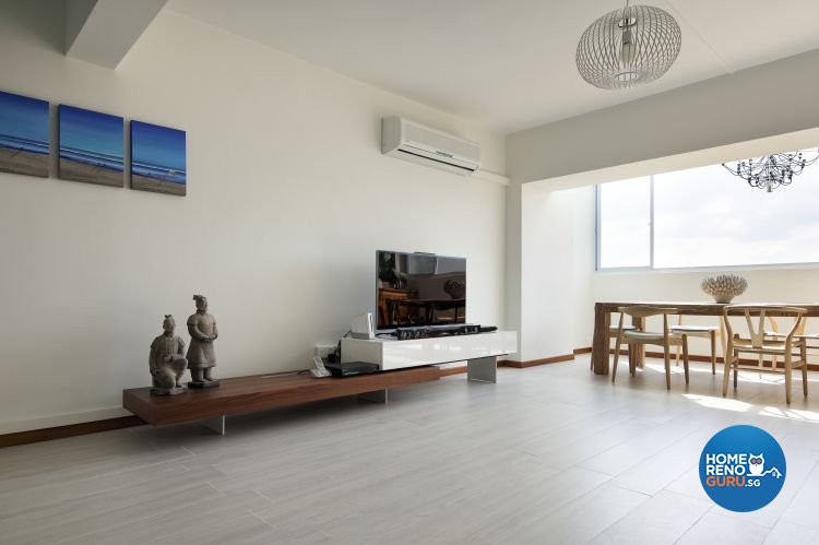 Minimalist Design - Living Room - HDB Executive Apartment - Design by Distinctidentity Pte Ltd