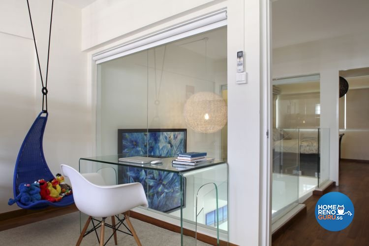 Minimalist Design - Study Room - HDB Executive Apartment - Design by Distinctidentity Pte Ltd