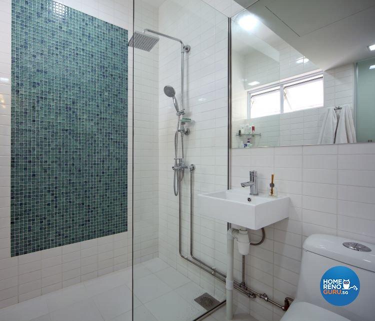 Minimalist Design - Bathroom - HDB Executive Apartment - Design by Distinctidentity Pte Ltd