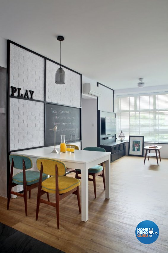 Contemporary Design - Dining Room - HDB 4 Room - Design by Distinctidentity Pte Ltd
