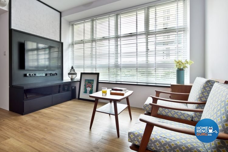 Contemporary Design - Living Room - HDB 4 Room - Design by Distinctidentity Pte Ltd