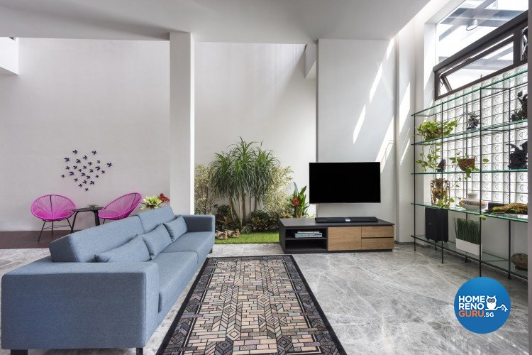 Contemporary Design - Living Room - Landed House - Design by Distinctidentity Pte Ltd