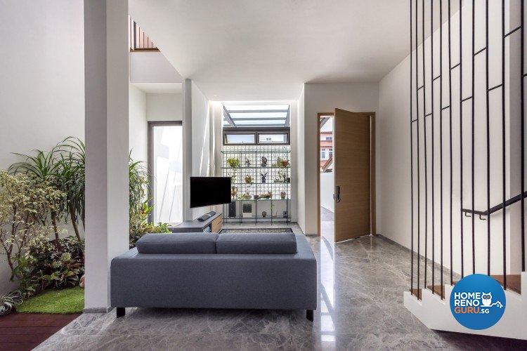 Contemporary Design - Living Room - Landed House - Design by Distinctidentity Pte Ltd