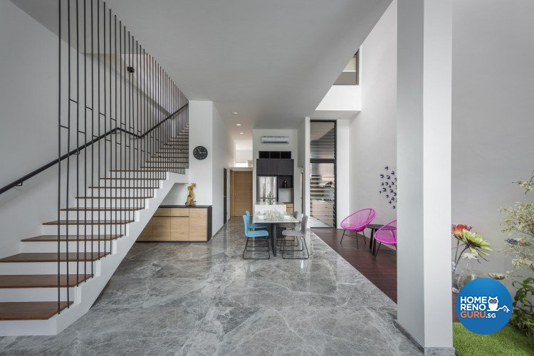 Contemporary Design - Dining Room - Landed House - Design by Distinctidentity Pte Ltd