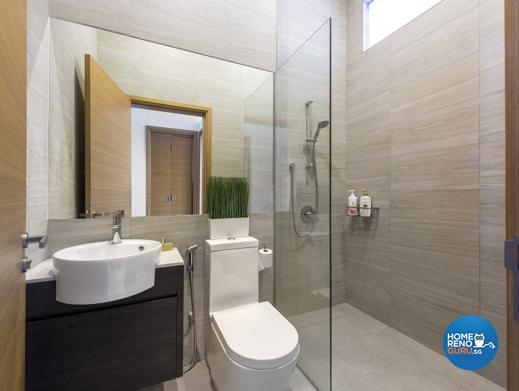 Contemporary Design - Bathroom - Landed House - Design by Distinctidentity Pte Ltd
