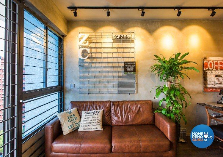 Industrial, Modern Design - Living Room - Condominium - Design by Diva's Interior Design Pte Ltd