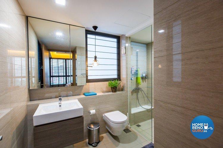 Industrial, Modern Design - Bathroom - Condominium - Design by Diva's Interior Design Pte Ltd