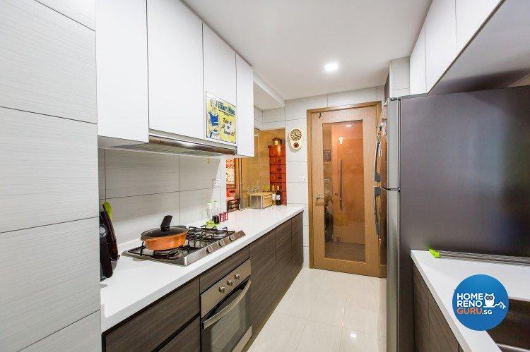 Industrial, Modern Design - Kitchen - Condominium - Design by Diva's Interior Design Pte Ltd