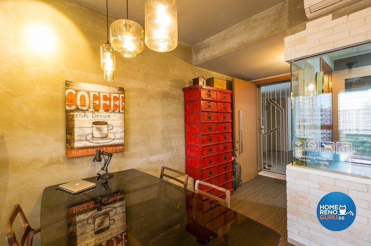 Industrial, Modern Design - Dining Room - Condominium - Design by Diva's Interior Design Pte Ltd