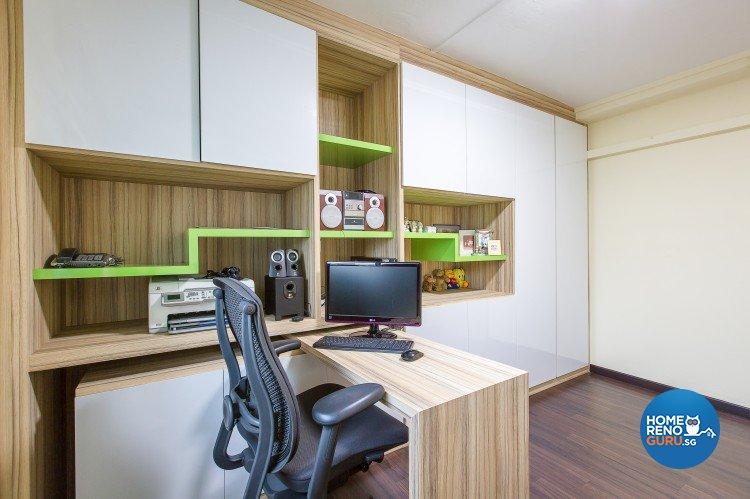 Modern Design - Study Room - HDB 4 Room - Design by Diva's Interior Design Pte Ltd
