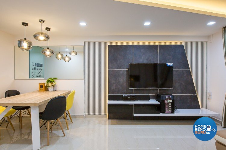 Modern Design - Living Room - HDB 4 Room - Design by Diva's Interior Design Pte Ltd