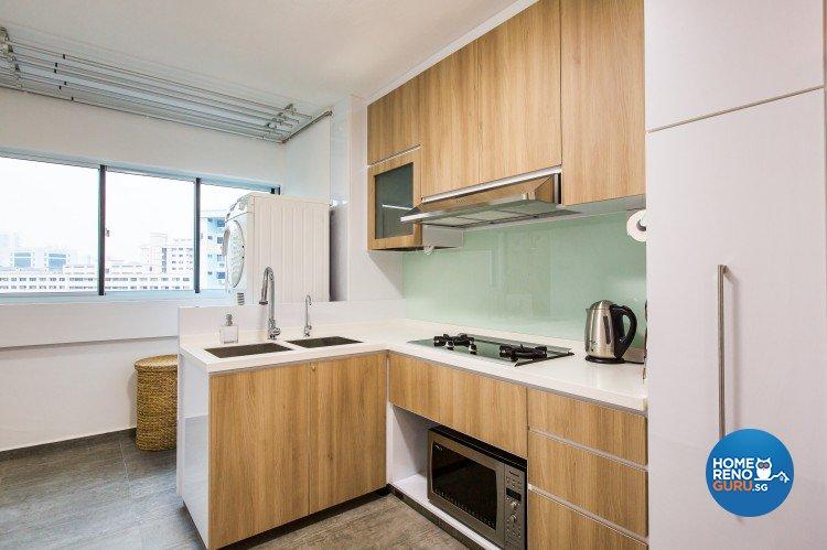 Modern Design - Kitchen - HDB 4 Room - Design by Diva's Interior Design Pte Ltd