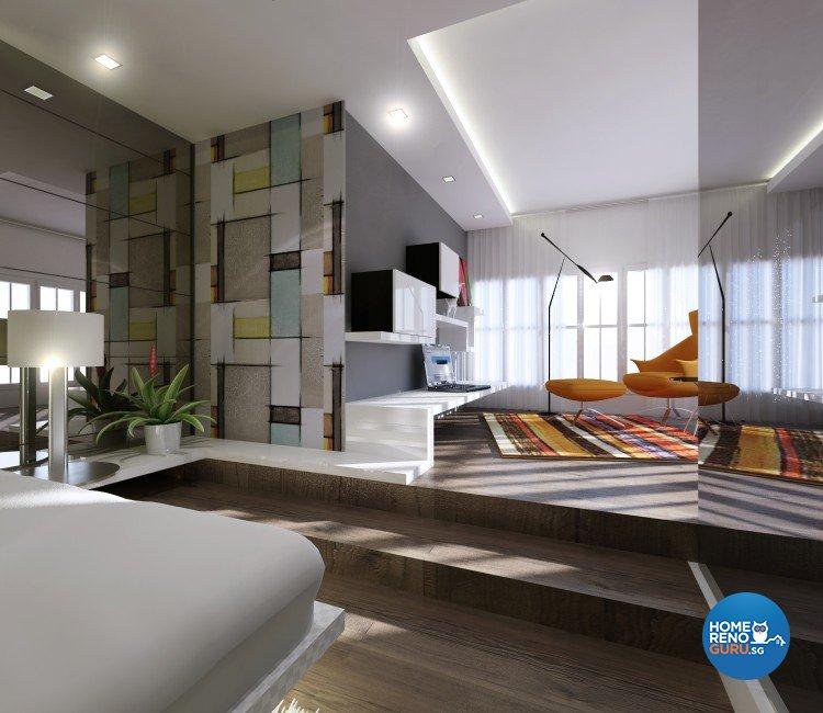 Contemporary Design - Bedroom - Landed House - Design by Diva's Interior Design Pte Ltd