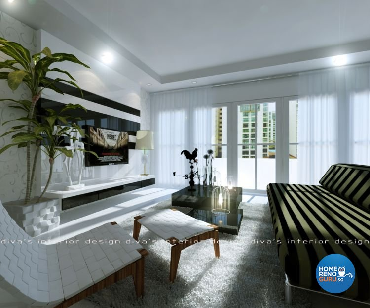 Contemporary Design - Living Room - Condominium - Design by Diva's Interior Design Pte Ltd