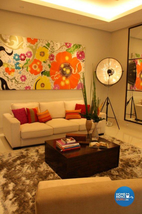 Modern Design - Living Room - Condominium - Design by Domuseven Pte Ltd