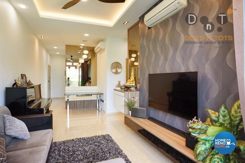 Contemporary, Modern Design - Living Room - Condominium - Design by Dots n Tots Interior Pte Ltd