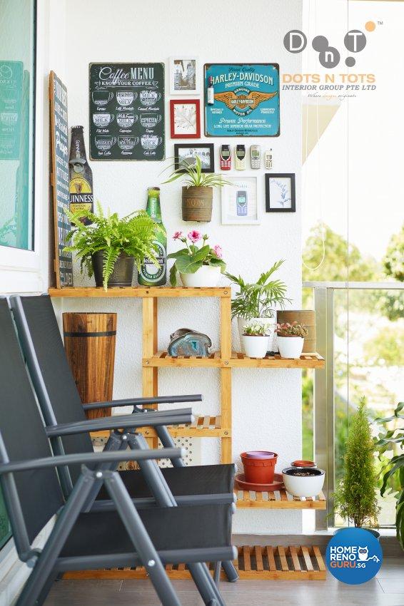 Contemporary, Modern Design - Balcony - Condominium - Design by Dots n Tots Interior Pte Ltd