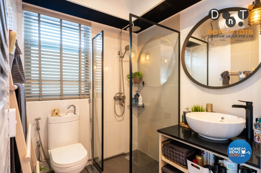 Industrial Design - Bathroom - HDB Studio Apartment - Design by Dots n Tots Interior Pte Ltd