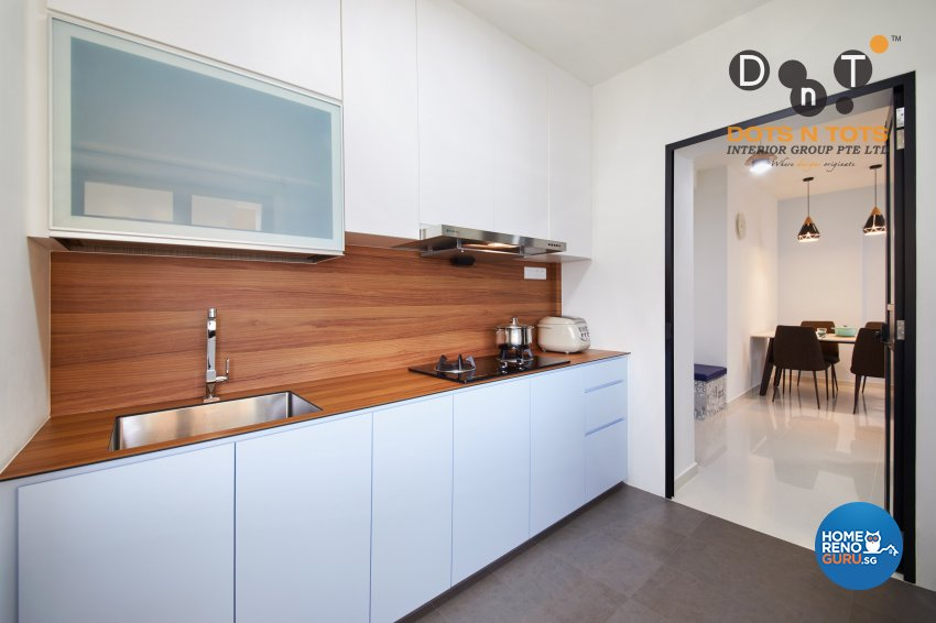 Modern, Scandinavian Design - Kitchen - HDB 3 Room - Design by Dots n Tots Interior Pte Ltd