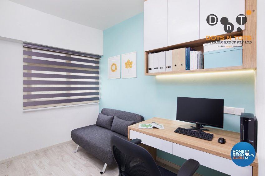 Modern, Scandinavian Design - Study Room - HDB 3 Room - Design by Dots n Tots Interior Pte Ltd