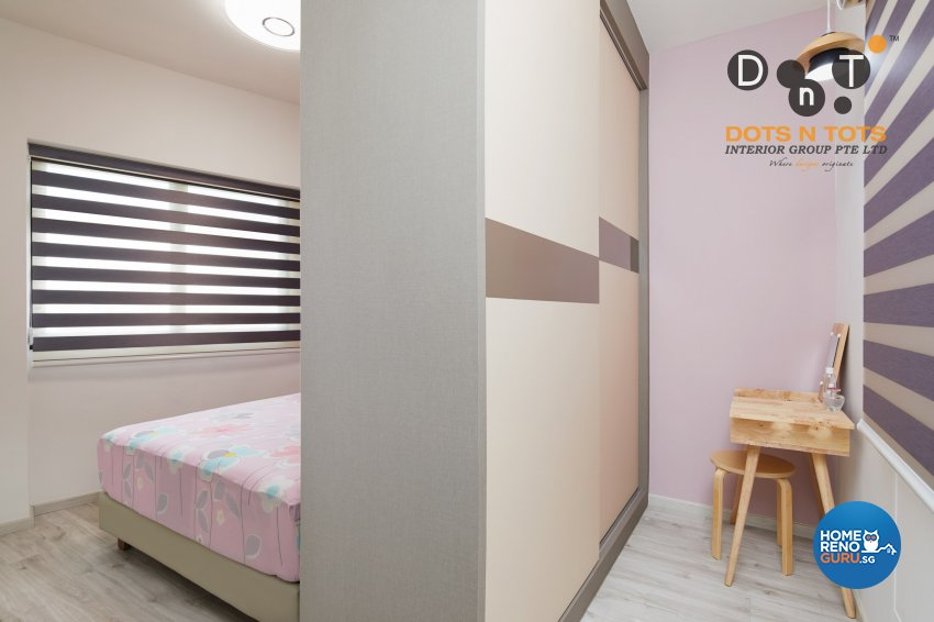 Modern, Scandinavian Design - Bedroom - HDB 3 Room - Design by Dots n Tots Interior Pte Ltd