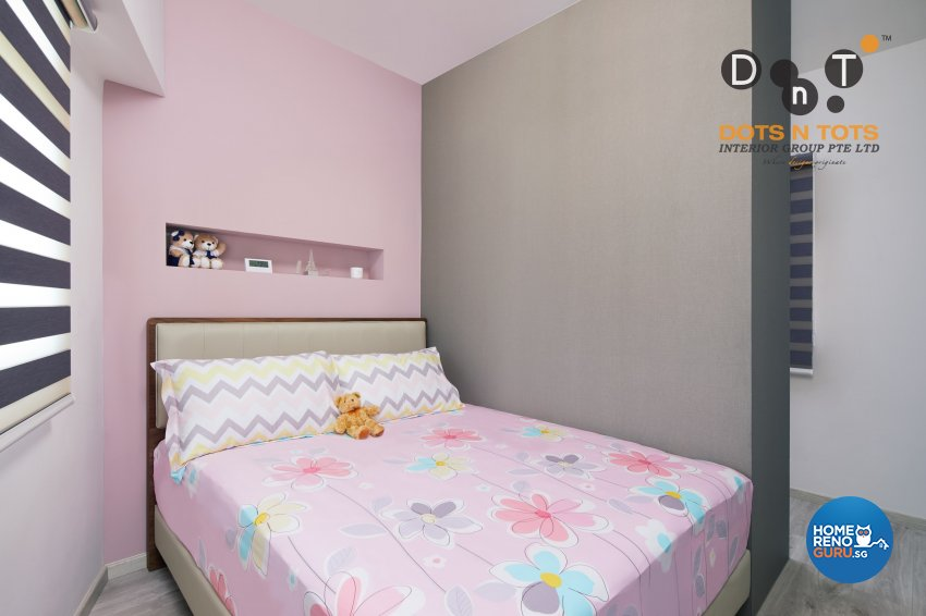 Modern, Scandinavian Design - Bedroom - HDB 3 Room - Design by Dots n Tots Interior Pte Ltd
