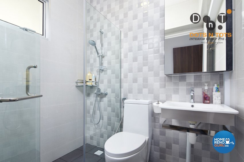 Modern, Scandinavian Design - Bathroom - HDB 3 Room - Design by Dots n Tots Interior Pte Ltd