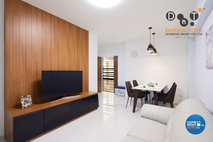 Modern, Scandinavian Design - Living Room - HDB 3 Room - Design by Dots n Tots Interior Pte Ltd