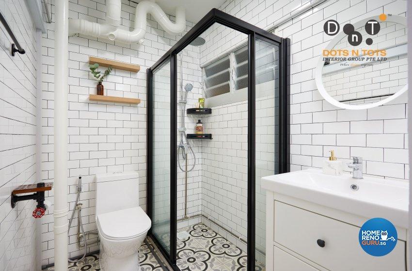 Minimalist Design - Bathroom - HDB 3 Room - Design by Dots n Tots Interior Pte Ltd