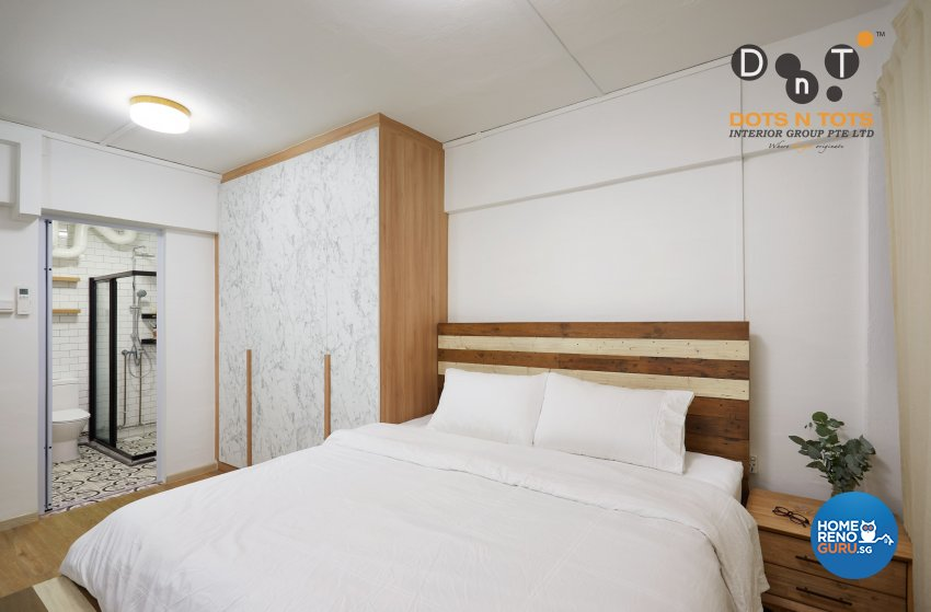 Minimalist Design - Bedroom - HDB 3 Room - Design by Dots n Tots Interior Pte Ltd