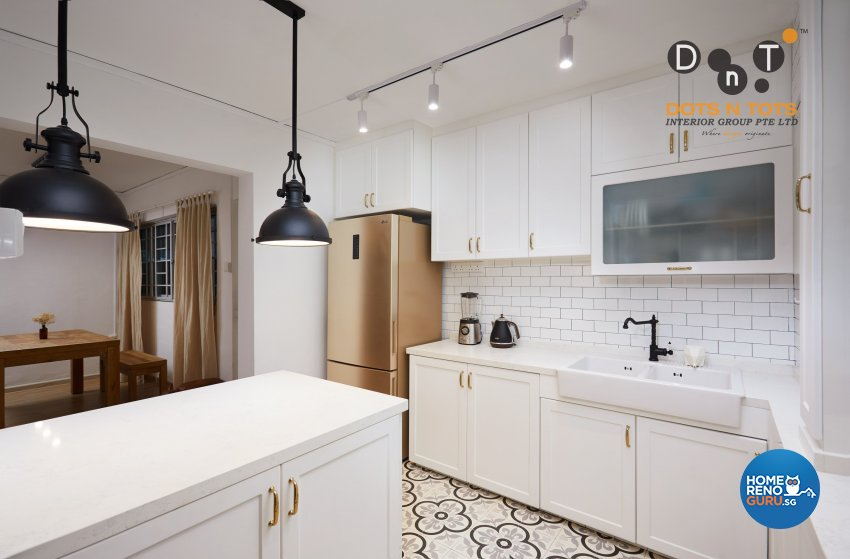 Minimalist Design - Kitchen - HDB 3 Room - Design by Dots n Tots Interior Pte Ltd