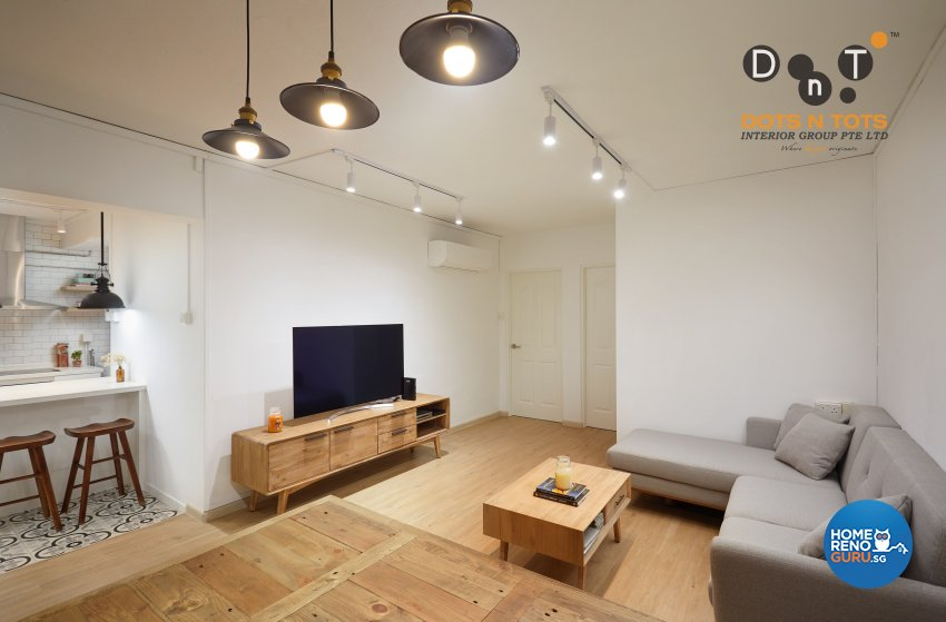 Minimalist Design - Living Room - HDB 3 Room - Design by Dots n Tots Interior Pte Ltd