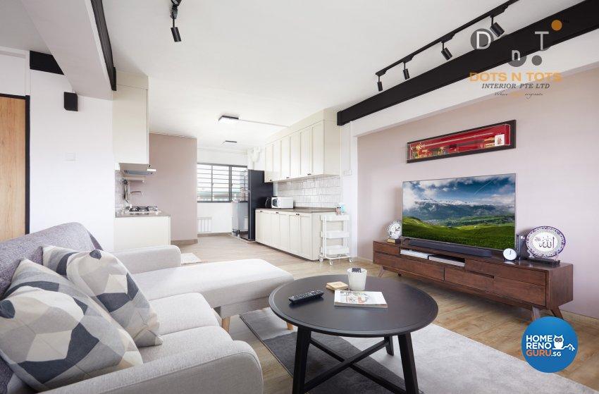 Contemporary, Modern, Scandinavian Design - Living Room - HDB 4 Room - Design by Dots n Tots Interior Pte Ltd