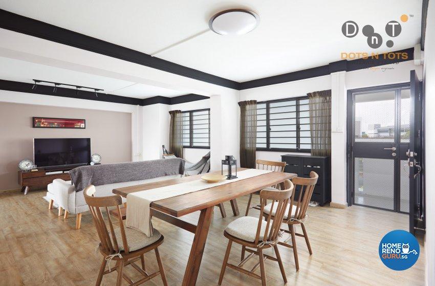 Contemporary, Modern, Scandinavian Design - Dining Room - HDB 4 Room - Design by Dots n Tots Interior Pte Ltd