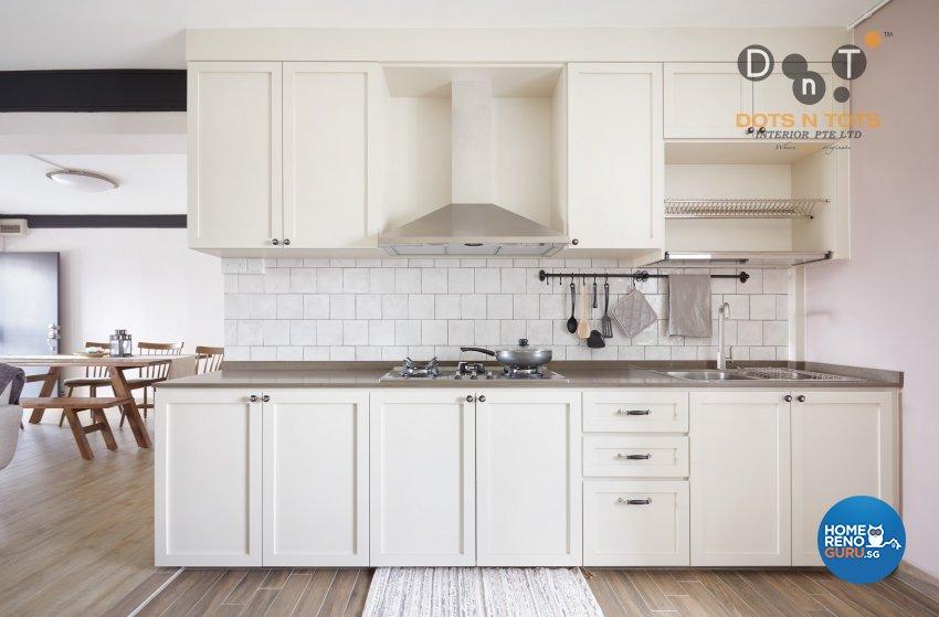 Contemporary, Modern, Scandinavian Design - Kitchen - HDB 4 Room - Design by Dots n Tots Interior Pte Ltd