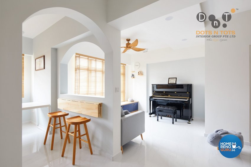 Scandinavian Design - Living Room - HDB 4 Room - Design by Dots n Tots Interior Pte Ltd