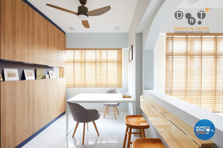 Scandinavian Design - Study Room - HDB 4 Room - Design by Dots n Tots Interior Pte Ltd