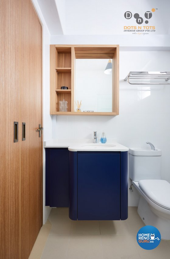 Scandinavian Design - Bathroom - HDB 4 Room - Design by Dots n Tots Interior Pte Ltd