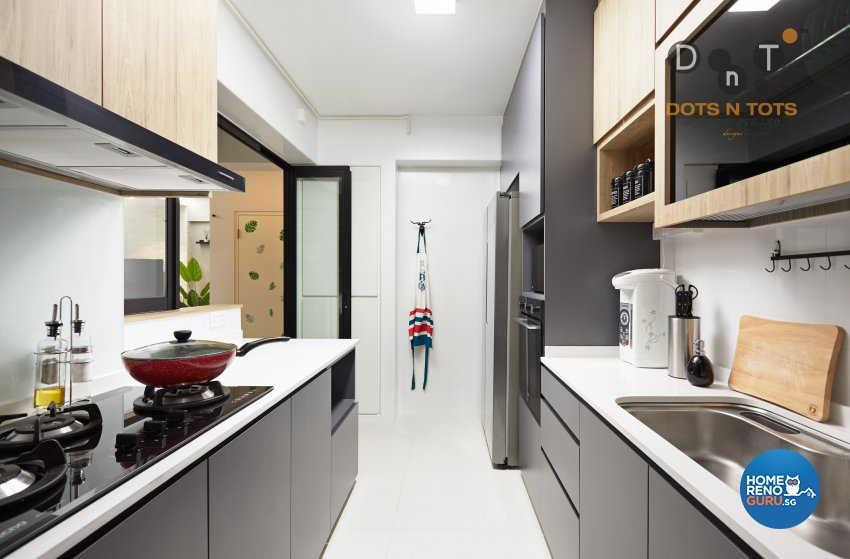 Scandinavian Design - Kitchen - HDB 4 Room - Design by Dots n Tots Interior Pte Ltd