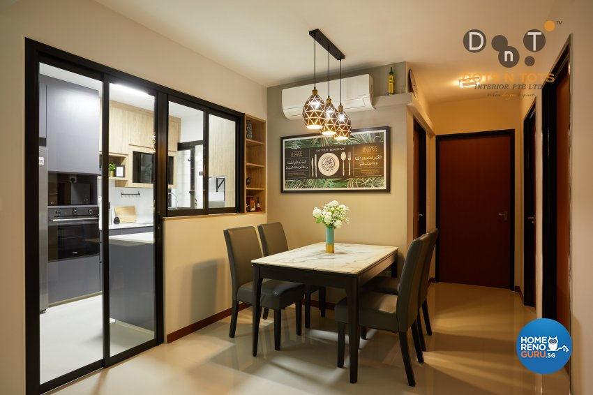 Scandinavian Design - Dining Room - HDB 4 Room - Design by Dots n Tots Interior Pte Ltd