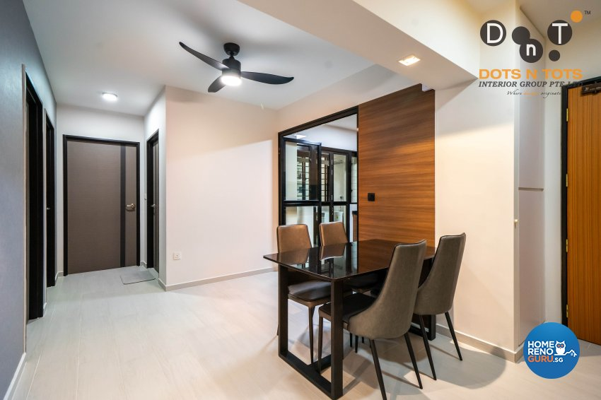 Contemporary Design - Dining Room - HDB 4 Room - Design by Dots n Tots Interior Pte Ltd