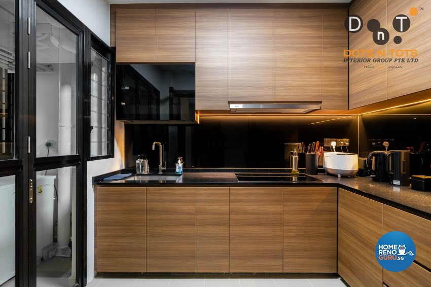 Contemporary Design - Kitchen - HDB 4 Room - Design by Dots n Tots Interior Pte Ltd