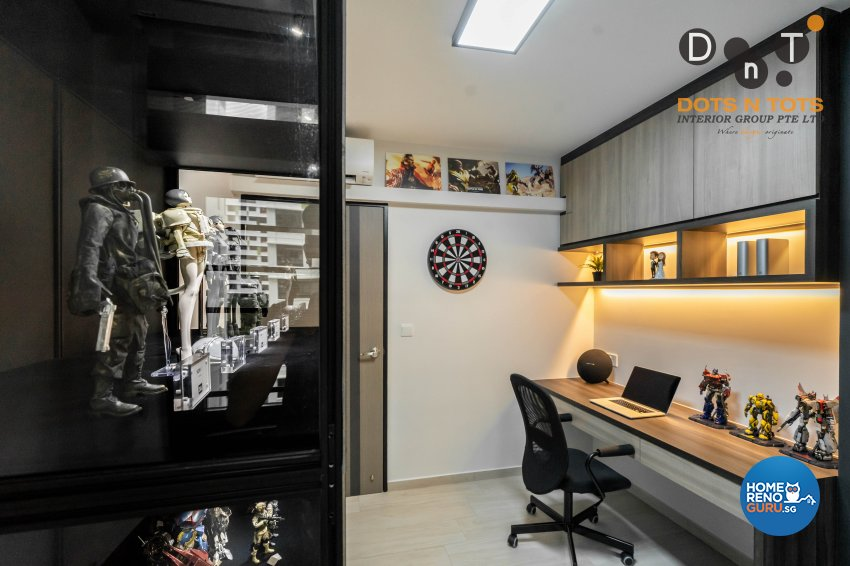 Contemporary Design - Study Room - HDB 4 Room - Design by Dots n Tots Interior Pte Ltd