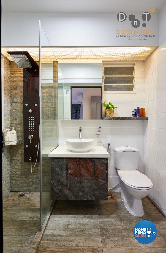 Design - Bathroom - HDB 4 Room - Design by Dots n Tots Interior Pte Ltd
