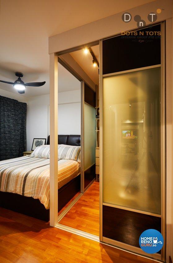 Design - Bedroom - HDB 4 Room - Design by Dots n Tots Interior Pte Ltd